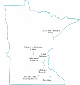 Map of Participating Colleges in Minnesota
